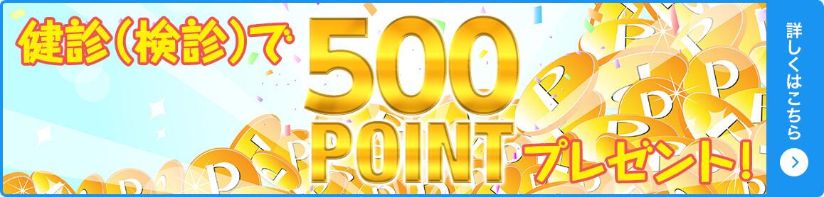 500ポイントプレゼントバナー